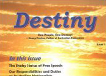 Destiny magazine, issue 1