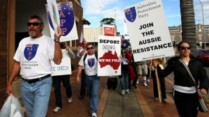 Australian patiots take on Islamic extremists.