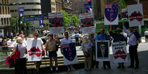 Protest against Kevin Rudd & Bogus Boat People, 2008