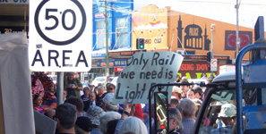 Protest against Rozelle Metro, 2009