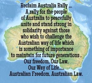 Reclaim Australia, map with text